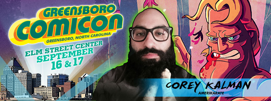Greensboro comicon Corey Kalman