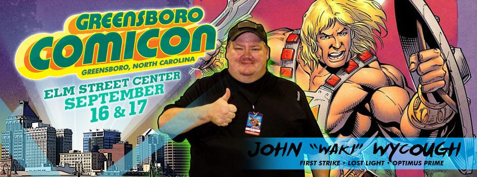 greensboro comicon John Wycough