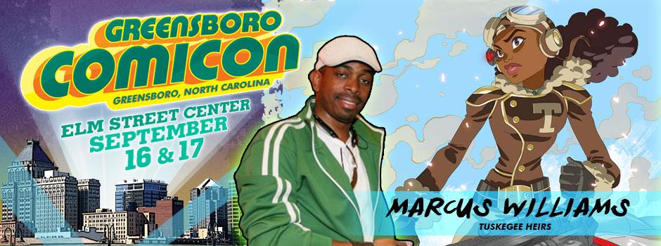 greensboro comicon MARCUS WILLIAMS