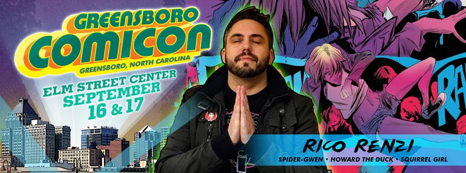 greensboro comicon Rico Renzi