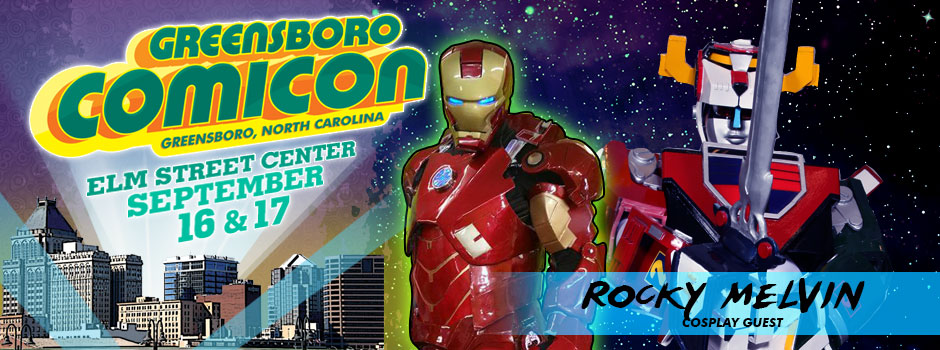 greensboro comicon Rocky Melvin