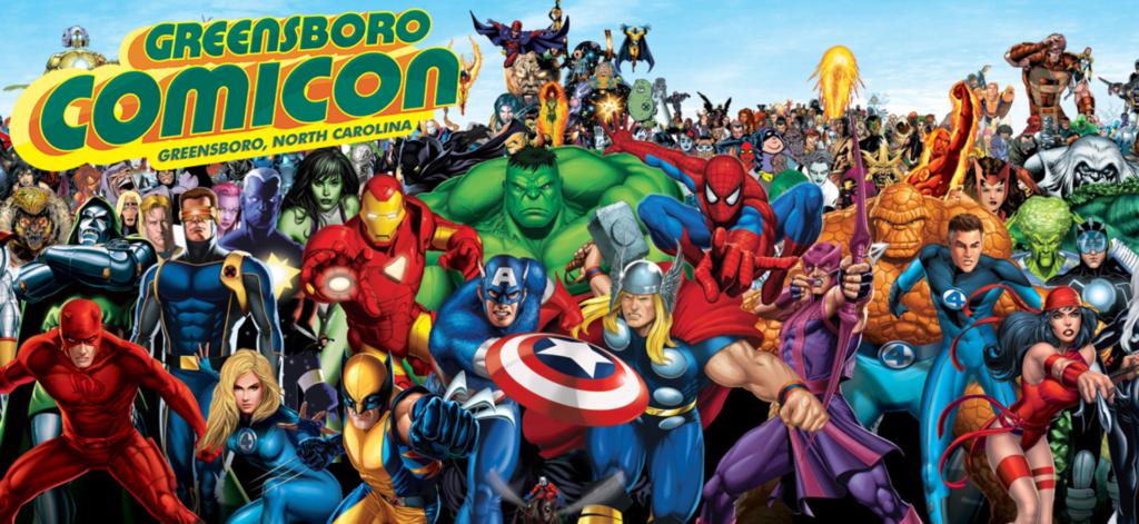 greensboro comicon superhero logo