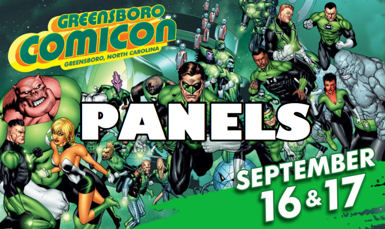 greensboro comicon panels logo