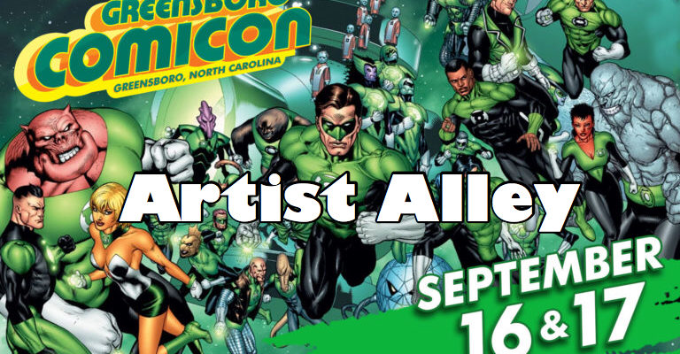 greensboro comicon artist alley